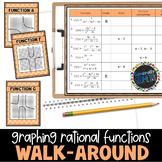 Graphing Rational Functions Walk Around Activity; Algebra 2