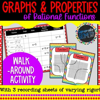 Graphing Rational Functions Walk Around Activity; Algebra 2