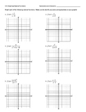 Graphing Rational Functions Worksheet + Answer Key