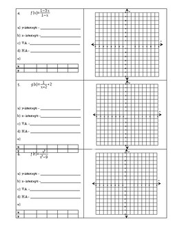 Graphing Rational Functions Worksheet