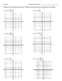 Graphing Rational Functions Worksheet (including Point Dis