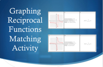 Graphing Reciprocal Functions Matching