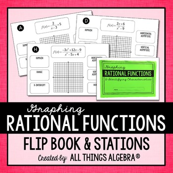 Graphing Reciprocal and Rational Functions Flip Book