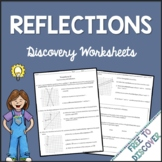 Transformations - Reflections Discovery Worksheets