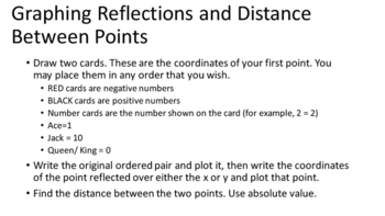 Graphing Reflections and Distance Between Two Points