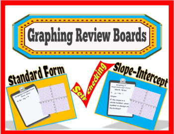 Graphing Review Boards for Slope-Intercept and Standard Form