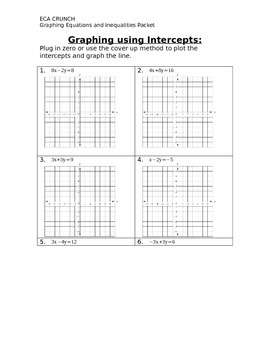 Graphing Review Packet