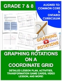 Graphing Rotations on a Coordinate Grid - Detailed Lesson
