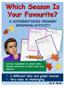 Graphing - Season We Like The Best - 4 pages (Differentiated Activities)