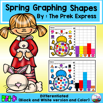 Graphing Shapes Differentiated ~ Spring Activities and Easter Activities