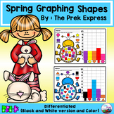Graphing Shapes Differentiated ~ Spring Activities and Eas