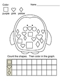 Graphing Shapes Penguin Printable