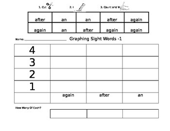 Graphing Sight Words