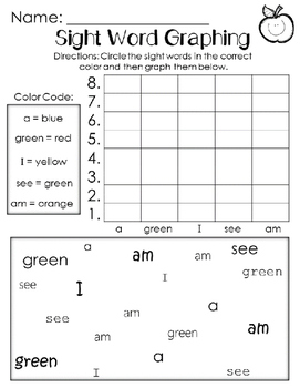 Graphing Sight Words Unit R-5. Reading Street. First Grade.