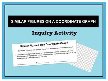 Graphing Similar Figures on a Coordinate Graph