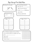 Graphing Slope Intercept Form Guided Notes