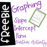 Graphing Slope Intercept Form partner activity