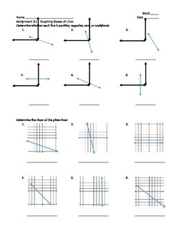 Graphing Slopes of Lines - Assignment