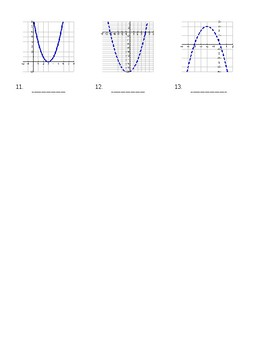 Graphing Solutions of Quadratic Inequalities Worksheet