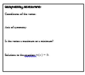 Graphing & Solving Quadratic Equations