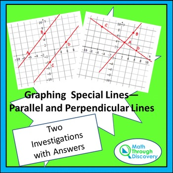 Graphing Special Lines - Parallel and Perpendicular Lines