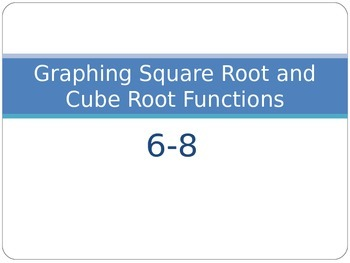 Graphing Square & Cube Root Functions