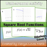 Graphing Square Root Function Walk-around Activity~L3~Dilation~Reflection~Transl