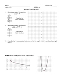 Graphing Square Root Functions - NO CALCULATOR QUIZ