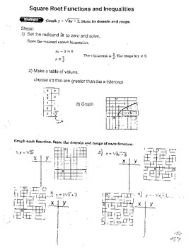 Graphing Square Root Functions and Quadratic Inequalities
