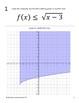Graphing Square Root Inequalities Walk Around Activity