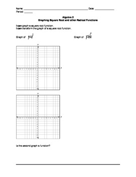 Graphing Square Root and other Radical Functions