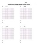 Graphing Square Roots & Cube Roots WS