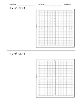 Graphing Standard Form Quadratic Equations Using Factoring and Zeros
