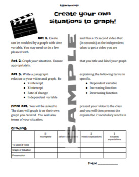 Graphing Stories and Function Vocabulary
