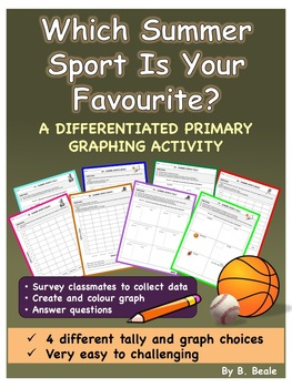 Graphing - Summer Sports Tally and Graph FREEBIE (Differen