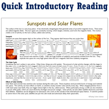 Graphing Sunspots Activity - Sun, Stars & Solar System NGSS HS-ESS1-1