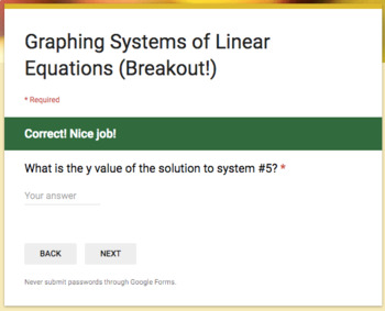 Graphing Systems – Breakout Activity!