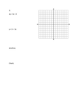 Graphing Systems and Determining the Number of Solutions to a System QUIZ