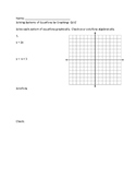 Graphing Systems and Determining the Number of Solutions t
