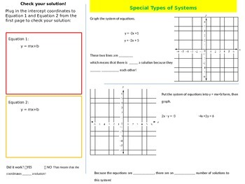 Graphing Systems of Equations