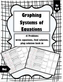 Graphing Systems of Equations - 6 Problems