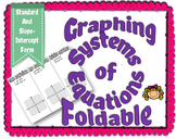 Graphing Systems of Equations Foldable
