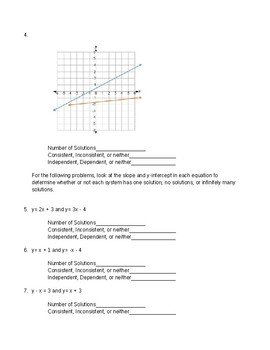 Graphing Systems of Equations: Number of Solutions