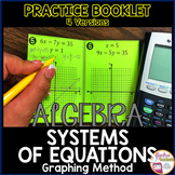 Graphing Systems of Equations Practice Foldable Booklet 4 Versions