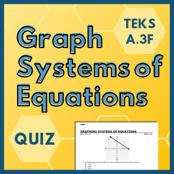 Graphing Systems of Equations Quiz (TEKS A 3F)