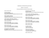 Graphing Systems of Equations Song (Lyrics Only)