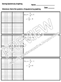 Graphing Systems of Equations Worksheet with key CED.A.3, REI.C.6