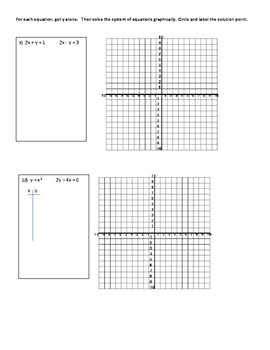 Graphing Systems of Equations in Algebra