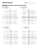 Graphing Systems of Equations with No Solution and IMS Notes and HW Pack