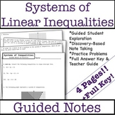 Graphing Systems of Linear Inequalities Guided Notes & Practice